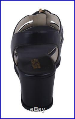 ac4c1ca5879 Michael Kors Berkley Mid Womens Black Leather Platform Wedge Sandals size  7.5