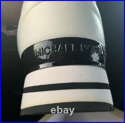 Michael Kors Billie Trainer Sneakers Black Optic White Women Shoes Size 10 New