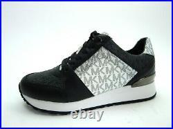 Michael Kors Billie Trainer Sneakers Black Optic White Women Shoes Size 5.5