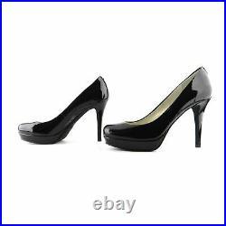 Michael Kors Black Patent Classic Platform Pumps Shoes sz 7.5 37.5
