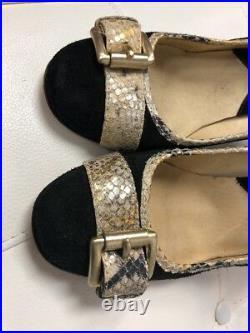 Michael Kors Black Suede Leather High Heels Shoes Pumps Size 10M