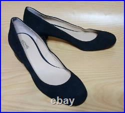 Michael Kors Black Suede Leather Pumps Womens Studded Heels Shoes 9 M