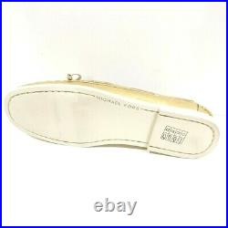 Michael Kors Blair Boat Shoes Loafers Gold Metallic Women's 19