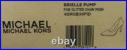 Michael Kors Brielle Womens fine glitter mesh Pumps Bronze size 5 shoes