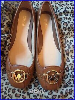 Michael Kors Brown Ballerina Pump Womens Shoes UK 4