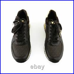 Michael Kors Brown Leather Lace Up Sneakers Shoes sz 7 37