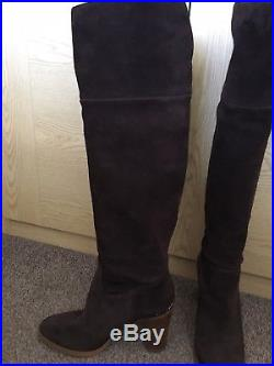 Michael Kors Brown Suede Boots Uk Size 7