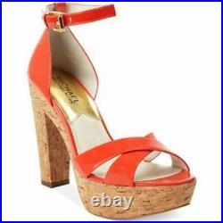 Michael Kors Camilla Platform Womens Cork Ankle Strap Sandals Shoes Multi Sizes