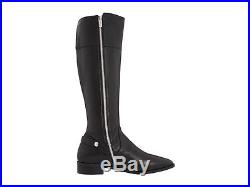 Michael Kors Carney Iconic Logo Zipper Tall Flat Riding Boots Us 5.5 11