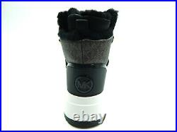 Michael Kors Cassia Bootie Nylon Black Brown Women Shoes Size 8.5