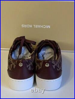 Michael Kors Catelyn Stripe Lace Up Shoes Merlot New In Box UK Size 3