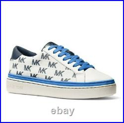 Michael Kors Chapman MK Logo Sneakers Athletic Shoes Blue Navy White size 11