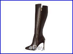 Michael Kors Clara Knee High Boots Brown Leather Stiletto Heel Sz 5 NEW $295