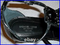Michael Kors Collection Cecile Runway Genuine Snakeskin Sandals Shoes Sz 10