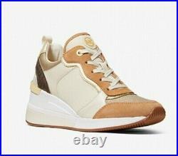 Michael Kors Crista Suede Metallic Canvas Sneaker Shoes