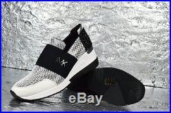 Michael Kors Damen Leder Neopren Turn Schuhe Platform Sneakers Weiß 38 Np 299