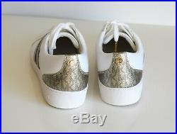 Michael Kors Damen Sneakers CATELYN STRIPE Größe 40 US 10M LACE NAPE optic white