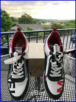Michael Kors Damen Sneakers Maddy Trainer Größe 39 MK Weiß Schwarz Pink