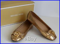Michael Kors Damenschuhe Ballerinas Neu gold Größe 38 US 8M 49F8FUFR3M