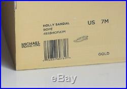 Michael Kors Damenschuhe Sandalen Neu mit Karton gold Größe 37 38 39