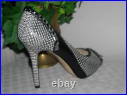 Michael Kors Ella Leather Pumps/Peep Toe studded Shoes Women's Shoe Size 7.5 new