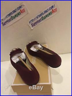 Michael Kors Felicity Flat Merlot Suede Shoe 40f5fefp1s 7.5 M $159.95