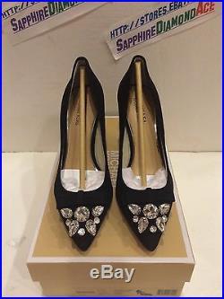 Michael Kors Felicity Pump Black Suede Heels 40f5fehp1s 7.5m $159.95