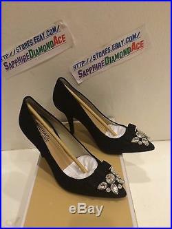 Michael Kors Felicity Pump Black Suede Heels 40f5fehp1s 7m $159.95