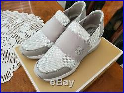 Michael Kors Felix Trainer Women's Sneaker Size 8 Silver