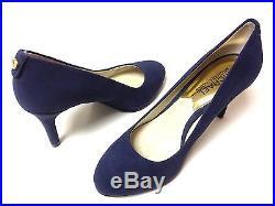 Michael Kors Flex Navy Suede Round Toe Pump Women Size 6 M