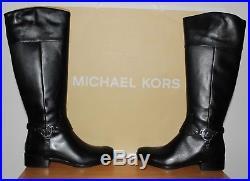 Michael Kors Fulton Harness Black Leather Boots Uk 5.5 Eu 38.5 RRP £255.00