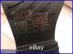 Michael Kors Fulton Harness Black Rubber Rain Boots Uk Size 6 / Us Size 8 /eu 38