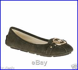 Michael Kors Fulton Moc Dk Olive Mk Logo Women Slip On Driver Shoes Multisize