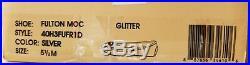 Michael Kors Fulton Moc Glitter Silver Gold Mk Logo Moccasin Loafer I Love Shoes