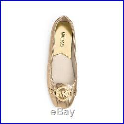 Michael Kors Fulton Moc Pale Gold MK Moccasins Flats Size 10 M