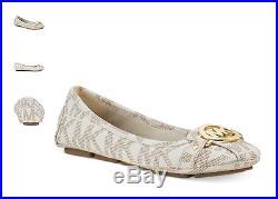 Michael Kors Fulton Moc Vanilla Logo Ballet Flat Women's sizes 5-11/NEW