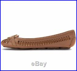 Michael Kors Fulton Moc Woven Khaki Mk Logo Women Slip On Driver Shoes Multisize