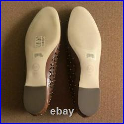Michael Kors Gabriella MK Signature Stud Flat Shoes Luggage Women's 19