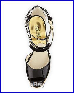 Michael Kors Gabriella Nude Black Criss Cross Espadrille Wedges Love Shoes