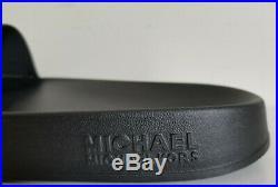 Michael Kors Gilmore Black Multi Color Crystal Mk Logo Slides I Love Shoes