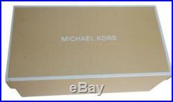 Michael Kors Gilmore Slides Rainbow Crystals MK Logo Women's Size 9 BOXED