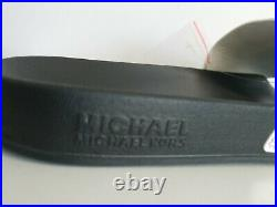 Michael Kors Gilmore White Rainbow Crystal Mk Logo Pool Slides 11 I Love Shoes