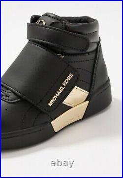 Michael Kors Girls Junior Black/Gold ZIA GUARD JUNIA Hi Tops Shoes