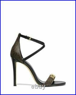 Michael Kors Goldie Open Toe MK Signature Heel Sandals Shoes 6