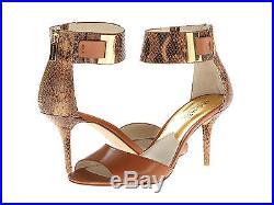 Michael Kors Guiliana Open Toe Sand Womens Sandals Logo Ankle Strap Multi Sizes
