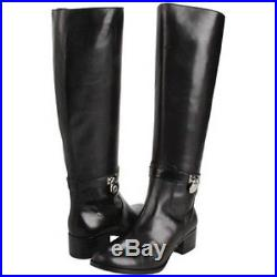 Michael Kors Hamilton Iconic Gold Padlock Logo Tall Riding Boots I Love Shoes
