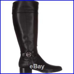 Michael Kors Harland Riding Boots Black Silver Hardware Size 9.5 US / 40.5EU New