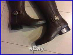 Michael Kors Harland Riding Boots Brown Gold Hardware Size 8US / 38.5EU New