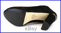 Michael Kors Haven Side Zip Suede High Heel Bootie Black Women Sz 9 M 5470