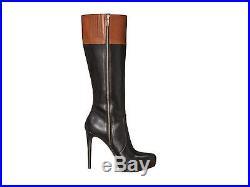 Michael Kors Hayley Amazing 2 Tone High Heel Sexy Gold Mk Logo Boots Love Shoes